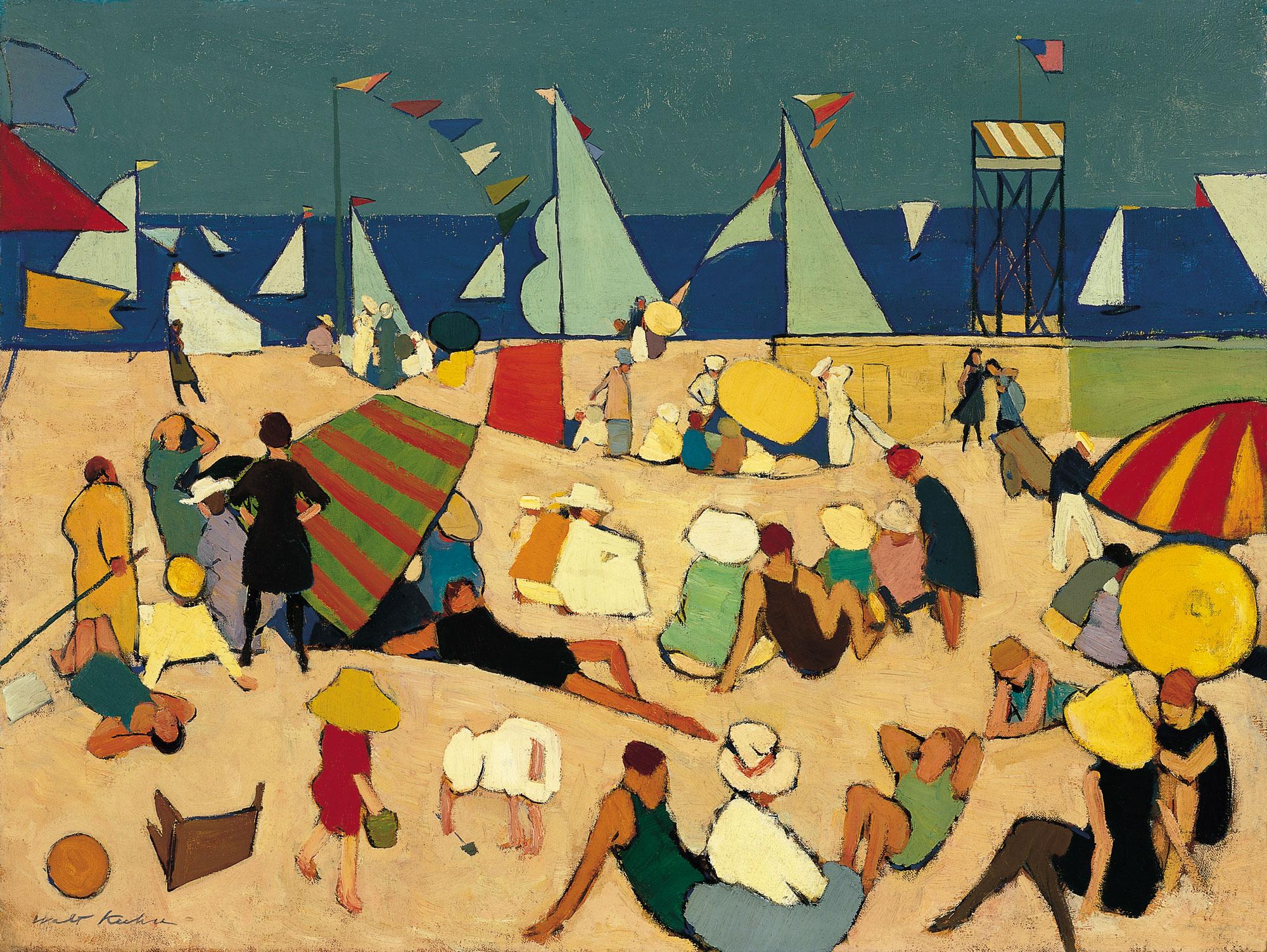 Bañistas en la playa
