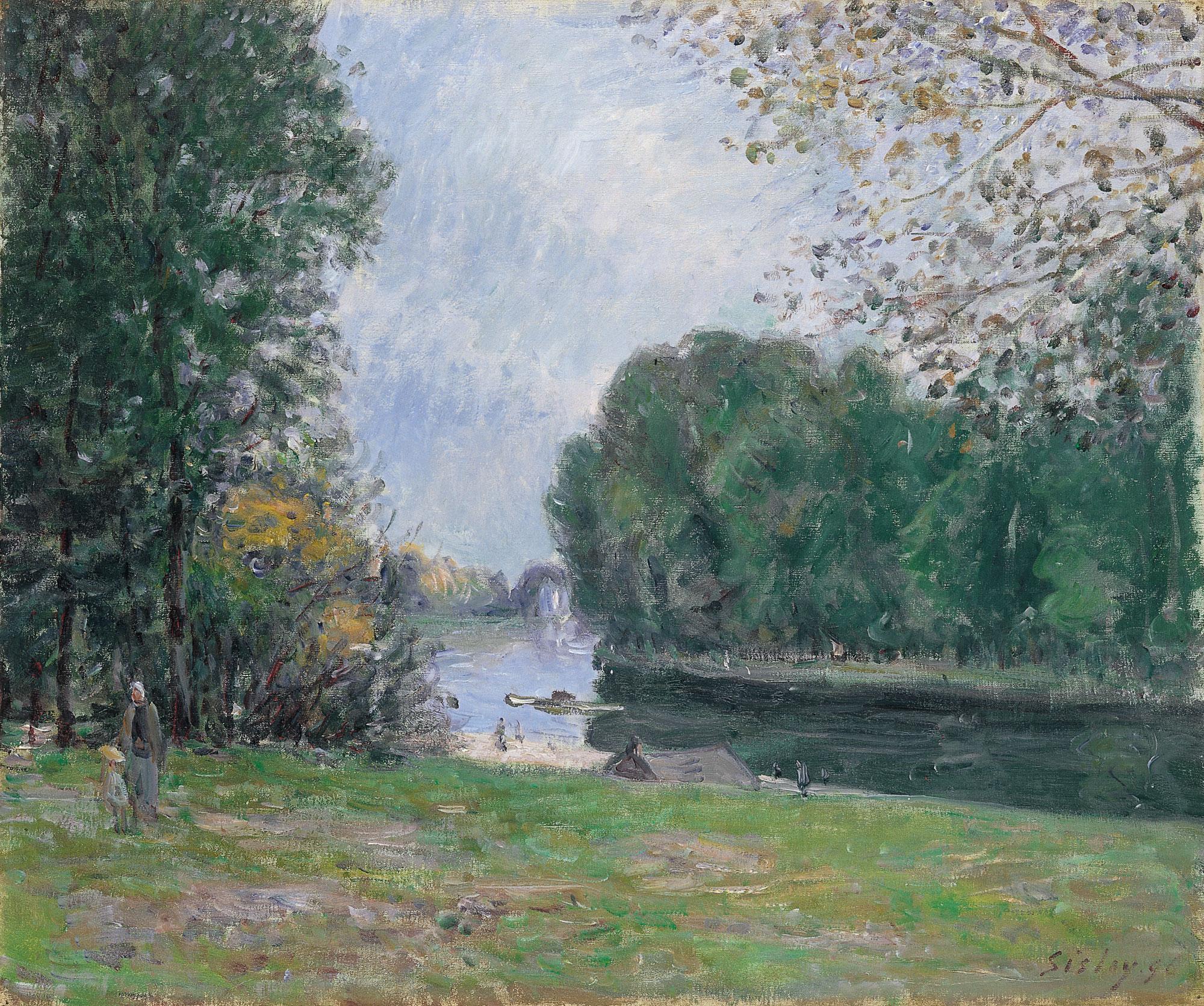 Meandro en el río Loing. Verano