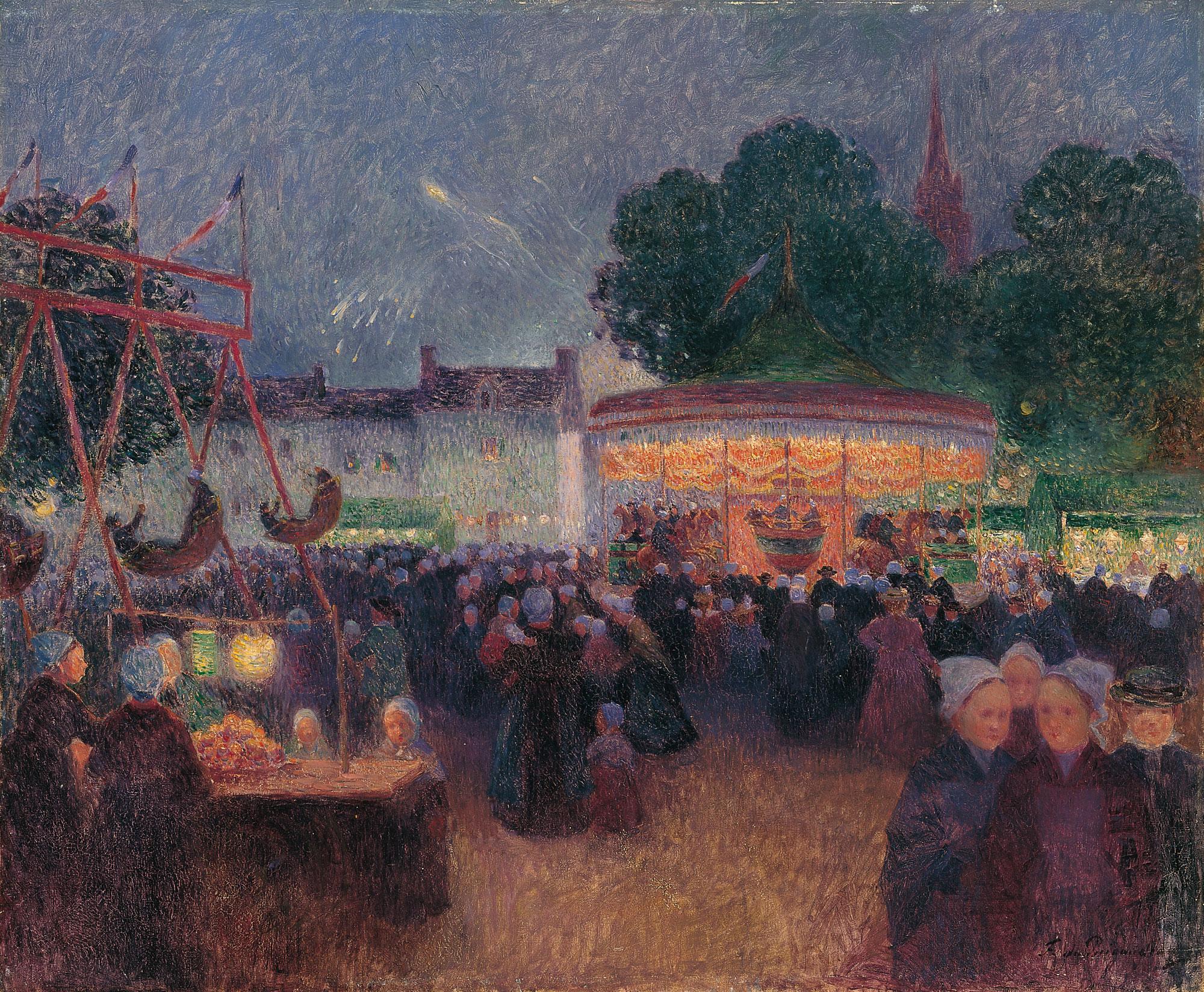 Fiesta nocturna en Saint-Pol-de-Léon
